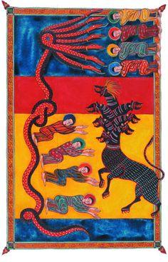 Medieval Manuscript, Medieval Art, Renaissance Art, Illuminated Manuscript, Alchemy Art, Spiritual Images, Demonology, Book Of Hours, Mural Painting