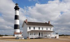 Bodie Island Lighthouse, in the Outer Banks, is one of only 12 lighthouses in the U.S. that are more than 150 feet tall.