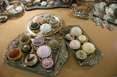 Create one of a kind pincushions from canning jar lids with this tutorial from Autumn Aire