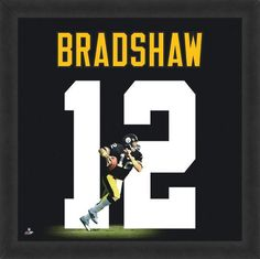 Featured is a Terry Bradshaw framed Pittsburgh Steelers jersey photo. This photo has been professionally framed and is approximately **Note: This photo is not signed. Pittsburgh Steelers Jerseys, Steelers Football, Nfl Sunday, Super Bowl Rings, Framed Jersey, Football Memorabilia, Football Hall Of Fame, Steeler Nation, Photo Wall Art
