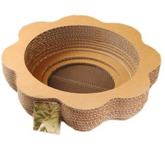 Natural PaperandWood Cat Scratching Pad New Style Scratcher with Catnip ** Tried it! Love it! Click the image. : Cat scratcher