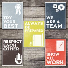 INSTANT DOWNLOAD Classroom Rules Posters on Etsy, $10.00