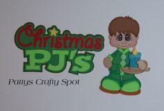 Christmas PJ's Boy Paper Piecing by Pattys by PattysCraftySpot