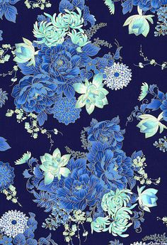 Imperial Garden Fabric  - Palatial Bouquet at... http://www.equilter.com/product/202274/imperial-garden-palatial-bouquet-midnight-bluegold