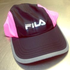 Pink and black Fila sports hat Pink and black brand new Fila sports hat. Never worn before Fila Accessories Hats