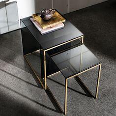 livia table moderne table salon et table basse - Table De Chevet En Verre