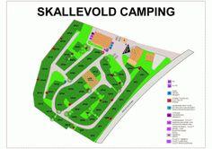 Kart over campingplassen.