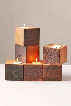 Farmhaus Firewood Single Candle Holder - Urban Outfitters