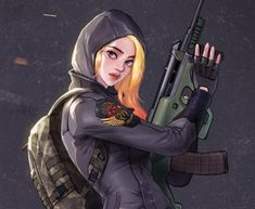 PUBG AUG girl with my favorite outfits! #2 by Hey-SUISUI