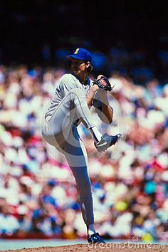 Former Seattle Mariners ace Randy Johnson.  Image from color slide.