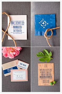 modern / preppy wedding invitations by hello!lucky #camillestyles #blue #orange