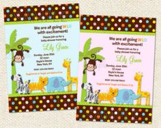 Safari Baby Shower Invitation Gender by DesignedbyGeorgette
