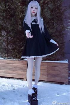 Searching for the best Gothic Lolita Dress online shop. Deluxe quality of Japanese Harajuku Gothic Black Style Doll Girl Long Sleeve Lace OP British Lolita Dress ready to ship now! Lolita Outfit, Gothic Lolita Dress, Lolita Cosplay, Goth Dress, Gothic Lolita Fashion, Anime Cosplay, Lolita Hair, Cosplay Sword, Lolita Shoes
