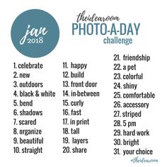 Photography | Join us for another year of our 365 Photo A Day Challenge | January Photo A Day Challenge 2018