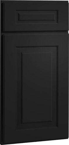 black cabinet doors