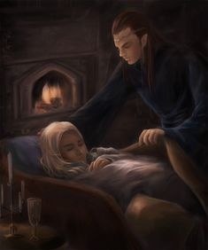 Elrond/Thranduil --in Rivendell 3 by royacc.deviantart.com on @deviantART