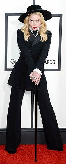 All hail the queen! Madonna wearing Ralph Lauren at the 2014 Grammy Awards