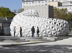 ArboSkin Bioplastics Facade Mock Up by ITKE. Great to see a biobased plastic made robust enough for exterior use. #Nov2013