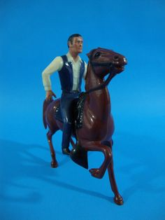1960's Hartland Mini Rider The Rifleman Chuck Connors Horse and figure only #Hartland