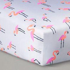 Flamingo print crib sheets - by Oh Joy! at Target  #target #flamingo #ohjoy