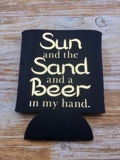 Beach Can Koozies Bachelor Party Favors Can by EverlongEvents
