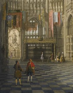 Giovanni Antonio Canal, called Canaletto (Venice 1697 - 1768), An Interior View of The Henry VII Chapel, Westminster Abbey (detail)
