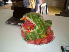 """made this for my sons shark party following instructions under """"Dryden"""" board. Took 2 hours."""