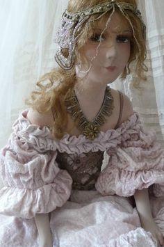 RARE Antique French Boudoir Dollc 1920 Edwardian Lovely Fashion Doll | eBay