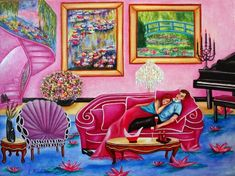 Romancing Monet Interior Painting by kMadison Moore, painting by artist k. Madison Moore
