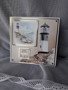 Lighthouse birthday card by CardsbyJackieDesigns on Etsy Birthday Card Messages, Masculine Birthday Cards, Birthday Cards For Men, Masculine Cards, Male Birthday, Happy Birthday, Hunkydory Crafts, Hunky Dory, Lighthouses