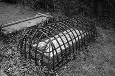 Mortsafes were contraptions designed to protect the bodies of the dead from disturbance. There had been body-snatching close to the schools of anatomy in Scotland since the early 18th century. This was due to the necessity for medical students to learn anatomy by attending dissections of human subjects, which was frustrated by the very limited allowance of dead bodies - for example the corpses of executed criminals - granted by the government, which controlled the supply.