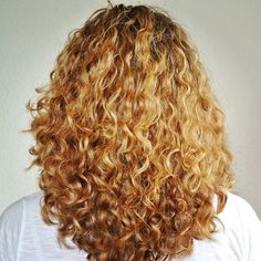 Long Round Layers on Curly Hair