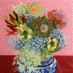 Inspiration from Cape Town Painter // Jenny Parsons Flowers Illustration, Illustration Art, South African Art, Arte Popular, Arte Floral, Art Plastique, Botanical Art, Beautiful Paintings, Love Art