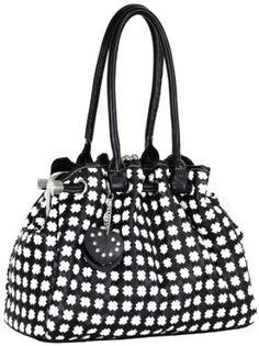 Timeless Chic Black / White Cross Woven Weave Kiss Clasp Framed Leatherette Satchel Hobo Shoulder Bag Handbag Purse --- http://www.pinterest.com.mnn.co/5jb