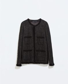 STRUCTURED WOVEN JACKET WITH POCKETS from Zara