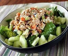 Sweet Tuna Salad Sandwich - part of Fitness Magazine's 11 Easy Lunches to Lose Weight Lunch Recipes, Diet Recipes, Cooking Recipes, Healthy Recipes, Easy Recipes, Recipies, Healthy Cooking, Healthy Snacks, Healthy Tuna