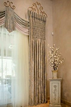 May/June 2016 Christi Adams, Christi's Windows, LLC, Workroom of the year and first place, top treatments. Custom Drapery, Curtain Decor, Window Coverings, Window Decor, Window Styles, Curtains, Curtain Designs For Bedroom, Tuscan Curtains, Elegant Draperies