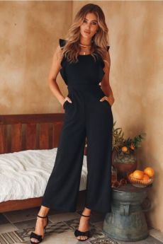 I Hope You Dance Jumpsuit Black Lovely Jumpsuit Pure Color Strapless Sleeveless Tee Length Jumpsuit Black Jumper Outfit, Jumper Outfit Jumpsuits, Black Jumpsuit Outfit, Casual Jumpsuit, Navy Jumpsuit, Pant Romper Outfit, Elegant Jumpsuit, Formal Jumpsuit, Summer Jumpsuit