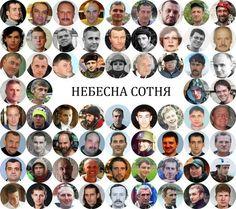 Небесна сотня, Герої України.  Вічна пам'ять! Героям слава!