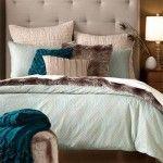 kahverengi bej ve mavi dekorasyon fikirleri yatak odasi oturma odasi yemek odasi renkleri (7)