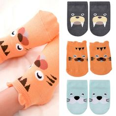 Awesome 1-4Y Kids Baby Unisex Girl Boy Cotton Cartoon Animal Anti Slip Boots Ankle Socks - $2.25 - Buy it Now!