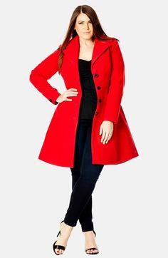 Plus size red jacket dress
