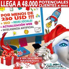 DESPEGUE SU MARCA Y COMIENCE EL 2020 CON MAS POTENCIA QUE NUNCA!!! ⚡️LE ASEGURAMOS UNA LLEGADA DE (MÍNIMO) 48.000 POTENCIALES CLIENTES CADA MES -> PLAN STANDARD ⚡️MANTENEMOS SU WEB ACTUALIZADA Y LA SEO OPTIMIZAMOS ⚡️ACTIVAMOS LAS REDES SOCIALES: 48 PUBLICACIONES (MÍNIMO) MENSUALES POR CADA RED SOCIAL -> PLAN STANDARD ⚡️SU MARCA Y PÁGINA WEB SERÁN LÍDERES EN TECNOLOGÍA YA QUE DISPONDRÁ DE SU PROPIA INTELIGENCIA ARTIFICIAL #seo #marketingdigital #visionoriginal Marketing Digital, The Originals, Socialism, Email Marketing, Artificial Intelligence