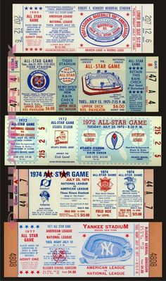 These tickets are printed on Matte photo paper. The backs of the tickets are white. Baseball Scoreboard, Baseball Tickets, Football Ticket, Baseball Art, Game Tickets, Baseball Stuff, Chase Field, Cardinals Game, Mlb Detroit Tigers