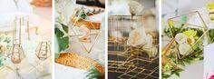Weddings Factory - Blog ślubny, inspiracje, motywy przewodnie, stylizacje ślubne, organizacja wesela: Geometryczne bryły na nowoczesnym przyjęciu
