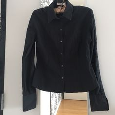 Authentic Christian Dior black button down shirt! WEEKEND SALE!!!Own Christian Dior couture at a ridiculously low price. The couture detailing is amazing - both sleeves have buttons with Dior insignia down the entire sides- so cool. Fitted shape makes it super sexy but still classy. The black is definitely a bit faded but it could also look like its on purpose as it's consistent. All buttons intact and in good condition! I'm de-cluttering so will consider ALL offers! Also 15% discount on…