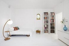 All white mini apartment