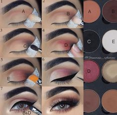 Step by step pictorial make-up look with LotusLuxe eyeshadow by . # Step by step pictorial make-up look with LotusLuxe eyeshadow by . Makeup Pictorial, Makeup Tutorial Eyeliner, Eyeshadow Makeup, Eyebrow Makeup, Glamorous Makeup, Gorgeous Makeup, Makeup 101, Hair Makeup, Makeup Ideas