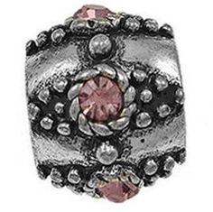 Timeline Trinketts™ Antique Dot October Birthstone Rose Pink Charms
