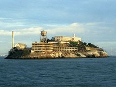 Alcatraz Island and Prison. Walking up to the prison from the dock is the equivalent of walking up the stairs in a 13 story building.